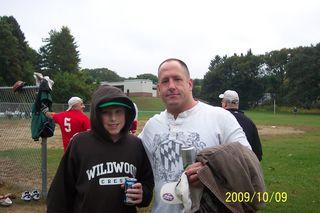 Evan Kimmerer age 12 & dad Dave 10-09-09