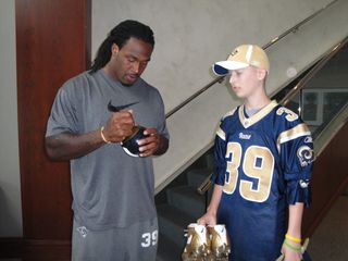 Jeffrey Driscoll & St Louis Rams Steven Jackson