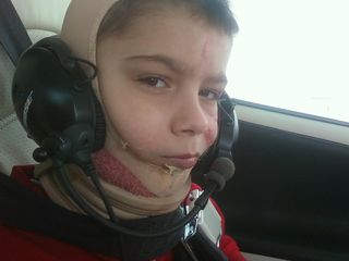 Daniel Dingley age 7 Angel Flight 06-20-2010 Boston Children's Hospital
