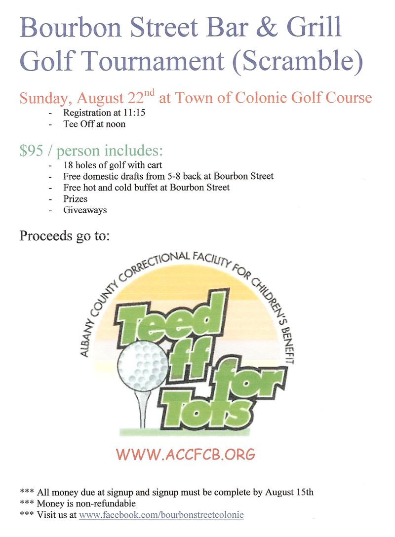 Bourbon Street Bar and Grill Golf to benefit ACCFCB Kids
