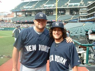 Connor Menneto Meets The NY Yankees