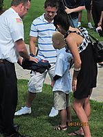 Daniel Dingley Made Honorary GIFD Firefighter June 24, 2011