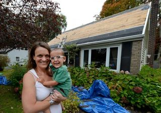 Logan Siciliano and mom Stephanie October 2013 TU Photographer Skip Dickstein