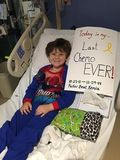 Parker Ragone's Last Chemotherapy on 12-29-2014 after 3 Years of Treatment