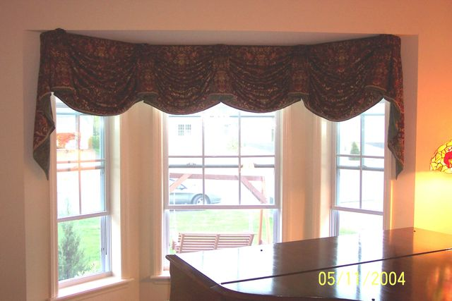 Window Treatment Photos Empire Valance Custom Fit To Bay